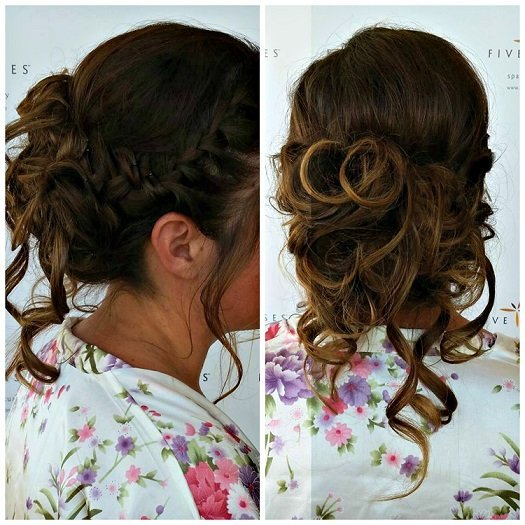 A beautiful relaxed updo for the bride Jessica, provided by Lyssa!