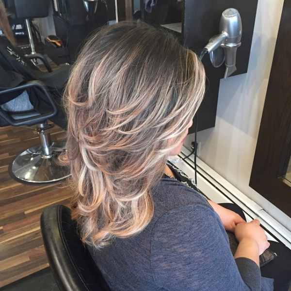 Ombre Haircolor & Layered Cut