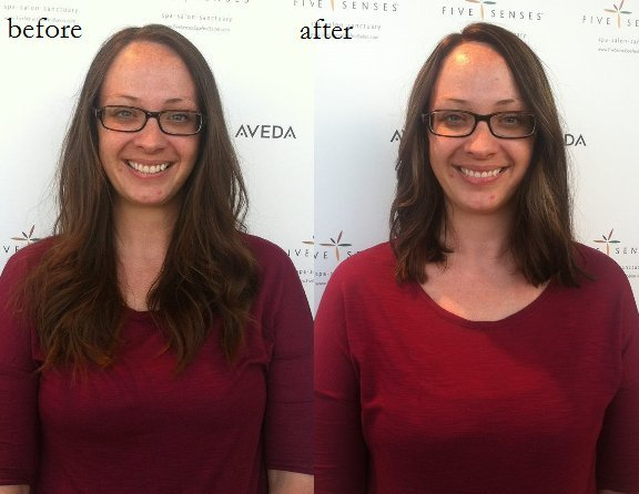 Lyssa gave Ali a dramatic new look with some subtle highlights and a great haircut!