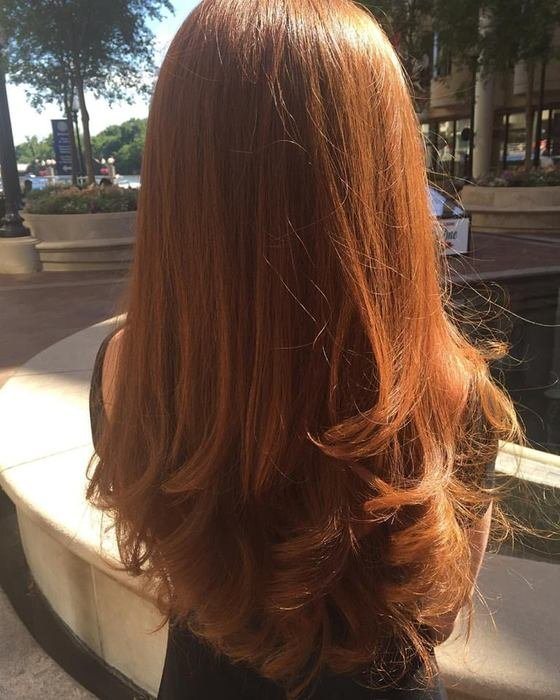 Gorgeous Red with Long Layers