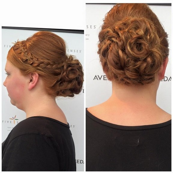 Up-do by Jailyn for homecoming!