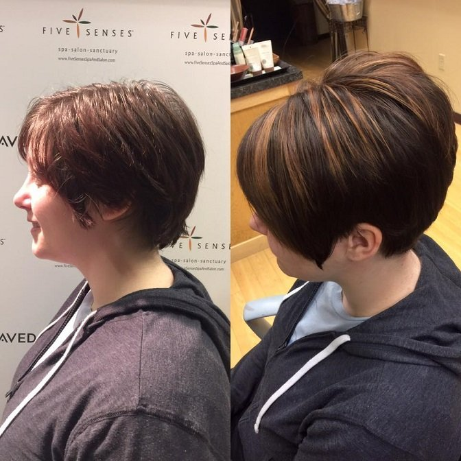 Michelle received a great highlight, color and new style