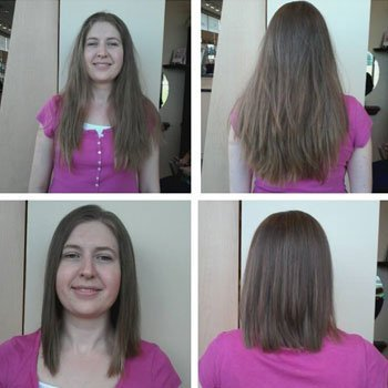Haircut and donation to Children with Hairloss!