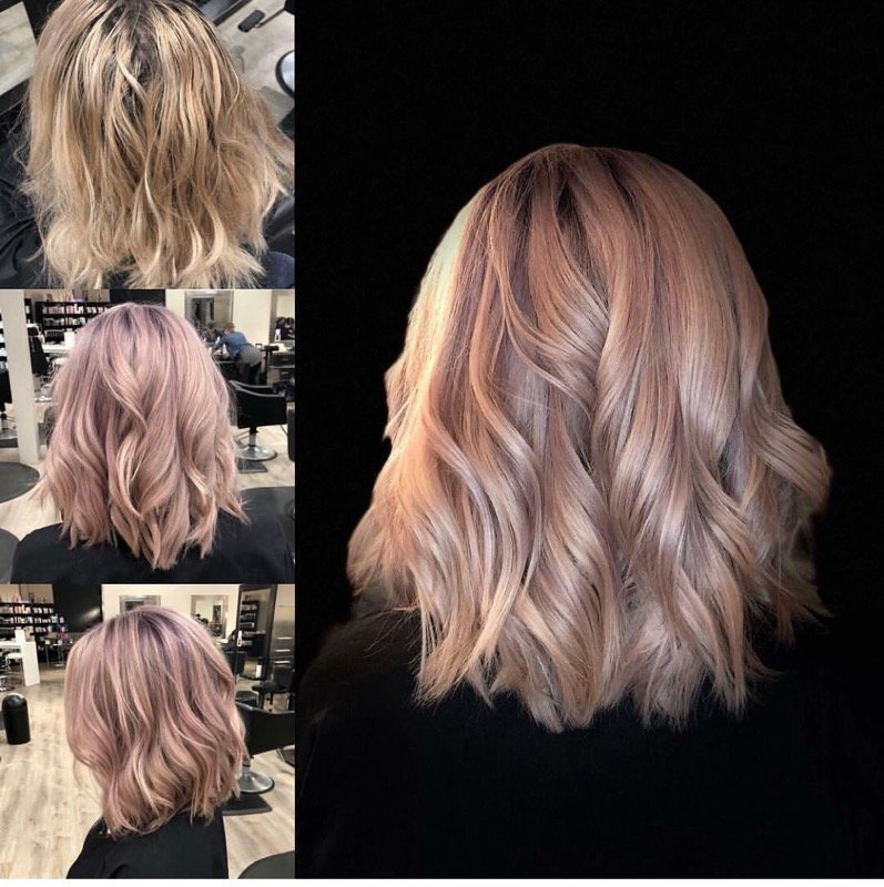 Dusty Lavender and Haircut and Style