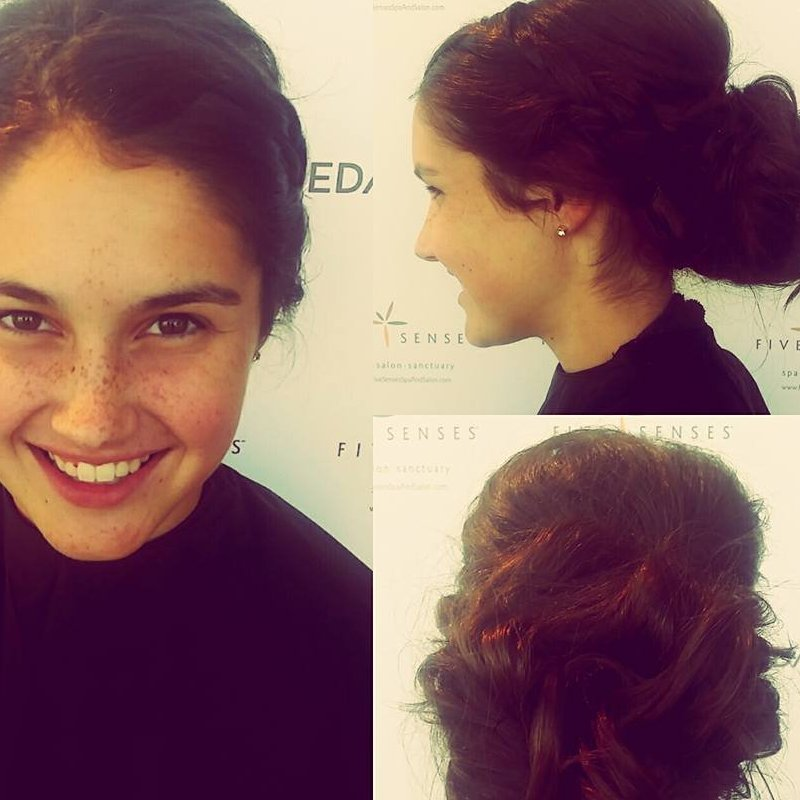 Beautiful up-do by one of our stylists!
