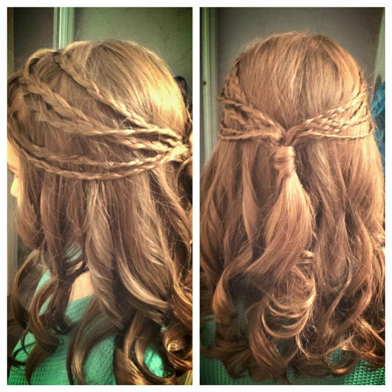 Moments Salon and Spa - Romantic braids....