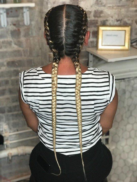 Braids and cornrows