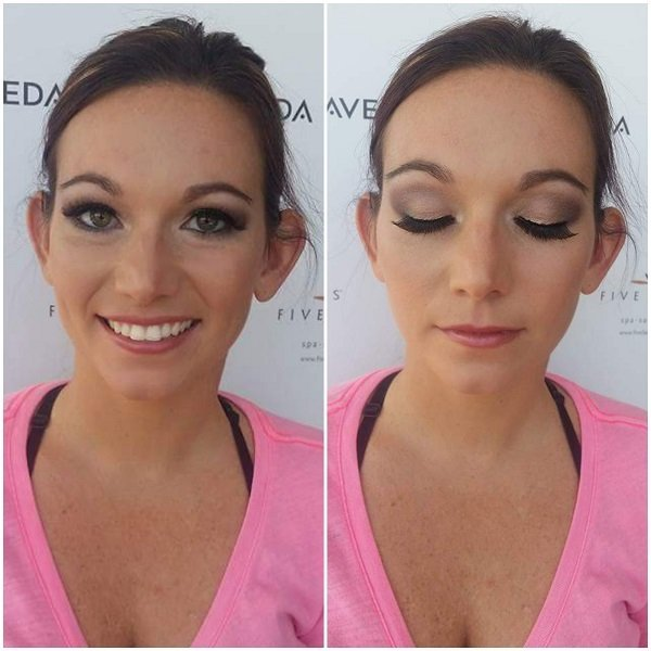 Practice bridal make-up with temporary lashes!