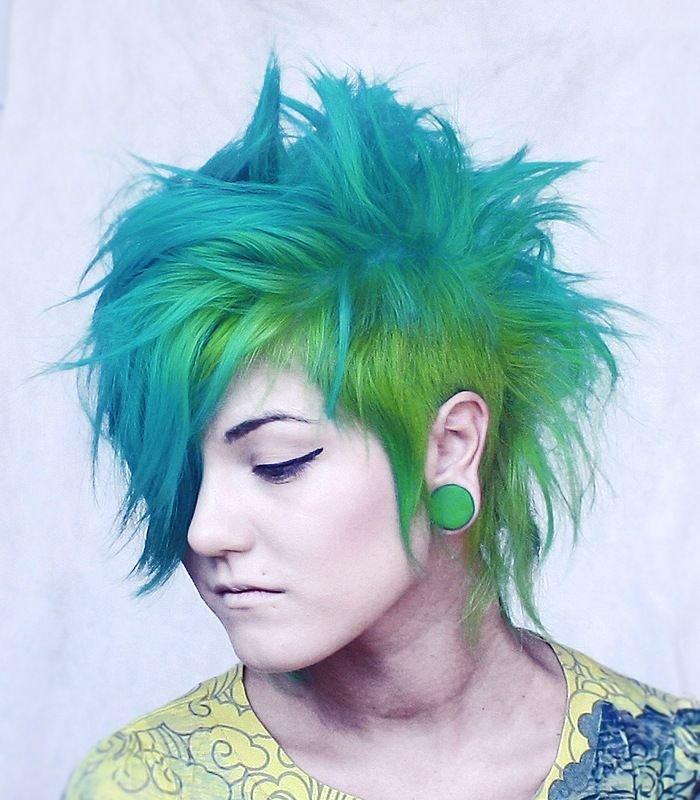 Vivid blue/green