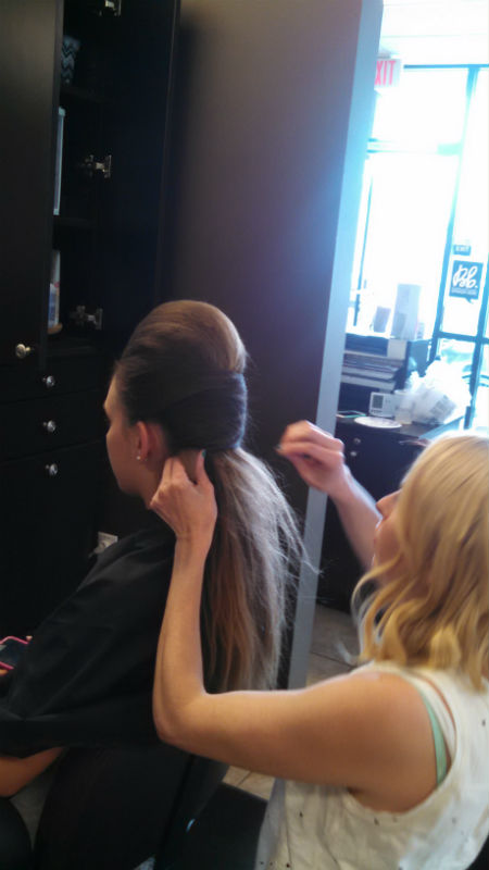 Hair Wars 2015 - Melissa working on her model