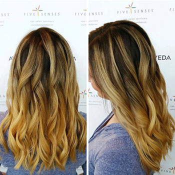 Loose curls to show off the ombre look!