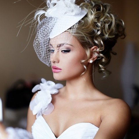 Bride with hairpiece