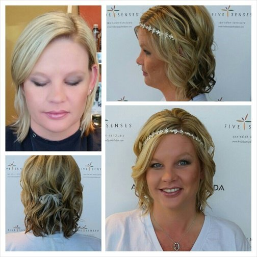 The bride this weekend, Sarah, came in for her hair and makeup with our master stylist, Melissa!