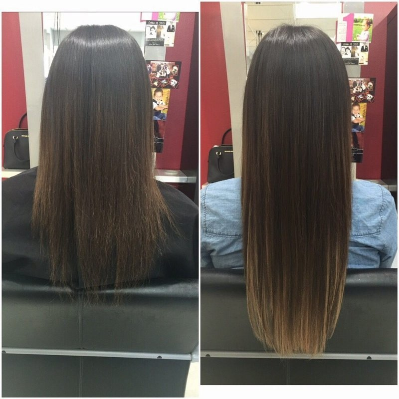 Custom Ombre Fusion Hair Extensions