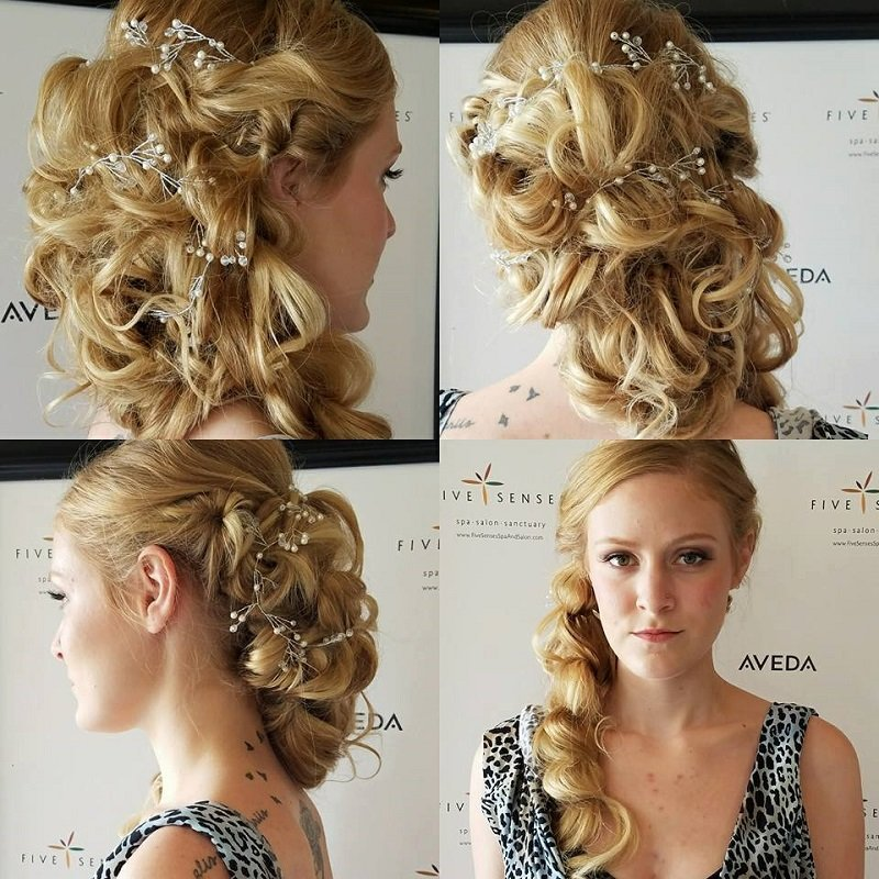 Intricate bridal up-do