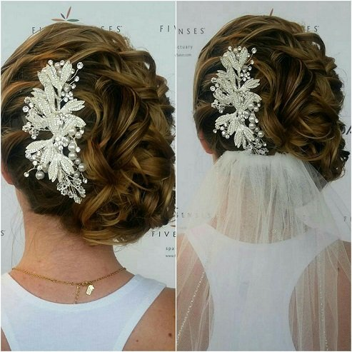 Gorgeous Bridal Up-do done by Melissa!