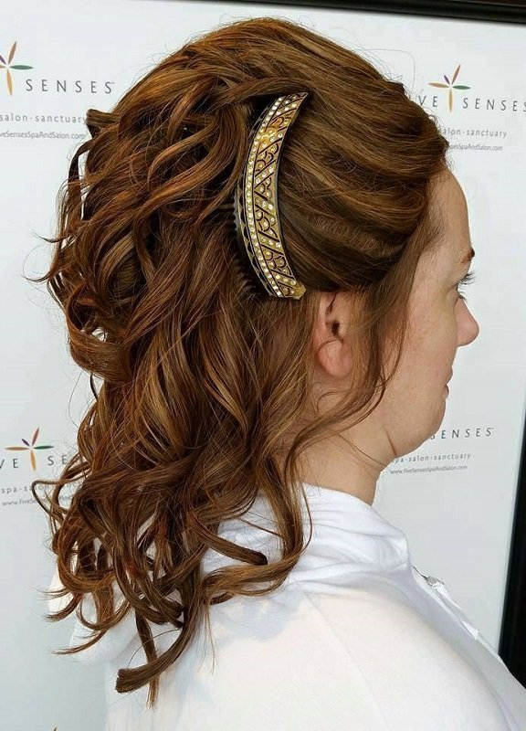 Pinned bridal up-do
