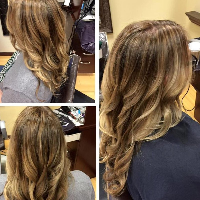 Katie got a beautiful color melt!