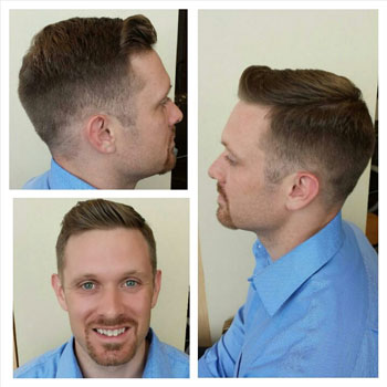 Short men's cut with fade by one of our senior stylists!