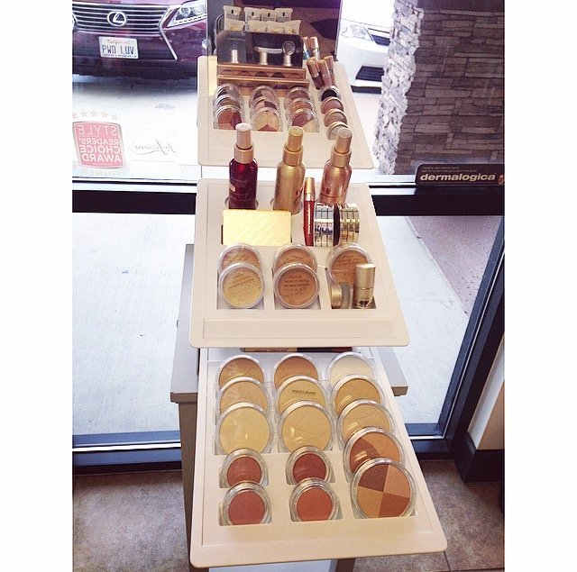 New Makeup Display! - Our new Jane Iredale display is here with all new packaging and a few new eye shadows! All old packaging of  Jane Iredale is now 50% OFF!! Come in and grab some before its all gone!