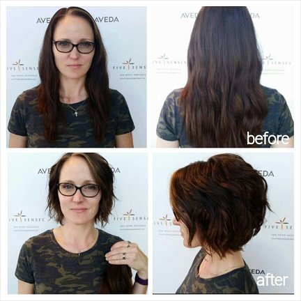 A cute cut by our master stylist, Melissa, and a donation to a great fund!
