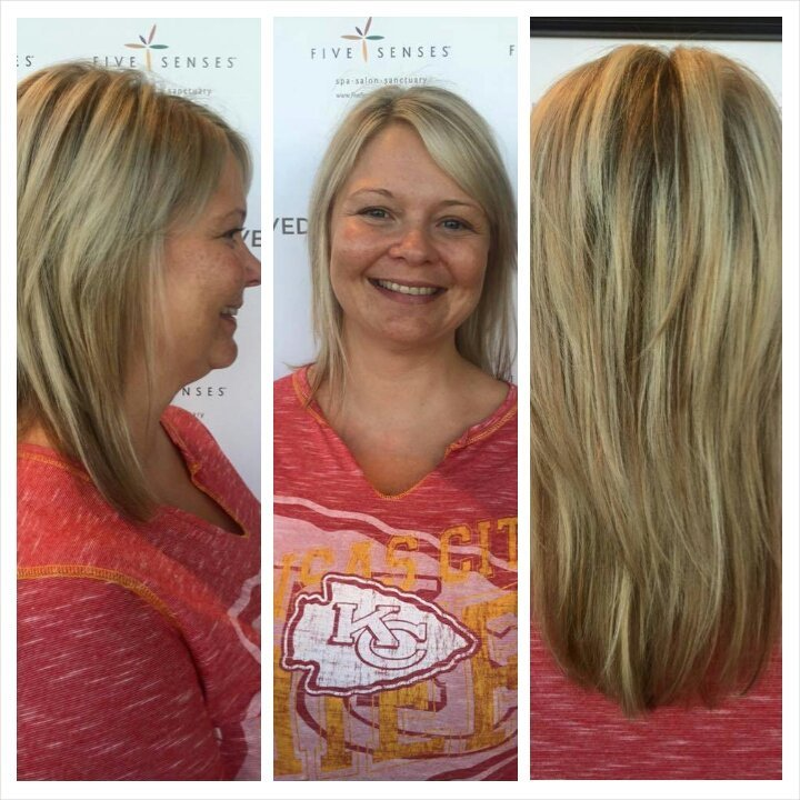 Heavy highlight and cut by our stylist, Jailyn!