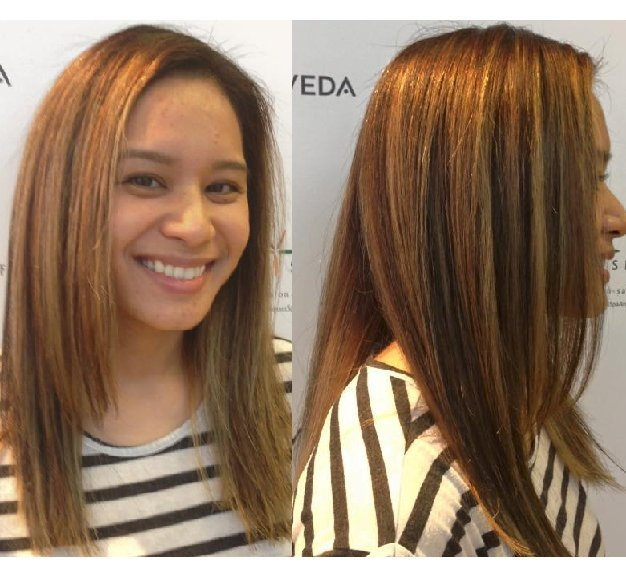 Richelle darkened her highlights to a lower tone!