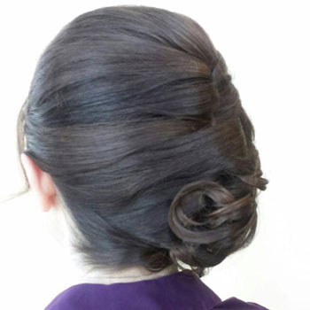 Wedding hair by Melissa!