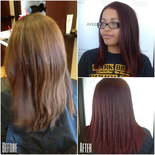 Beautiful dark auburn color