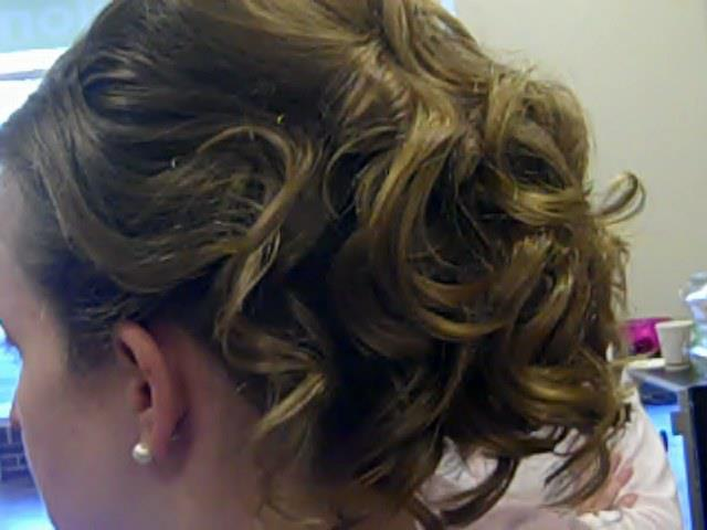 Yardley, PA salon client with a bridal hair in Bucks County, PA