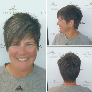 Short haircut by one of our master stylists.