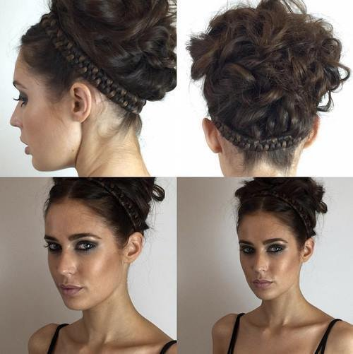 Stylish Up Do & Fierce Makeup