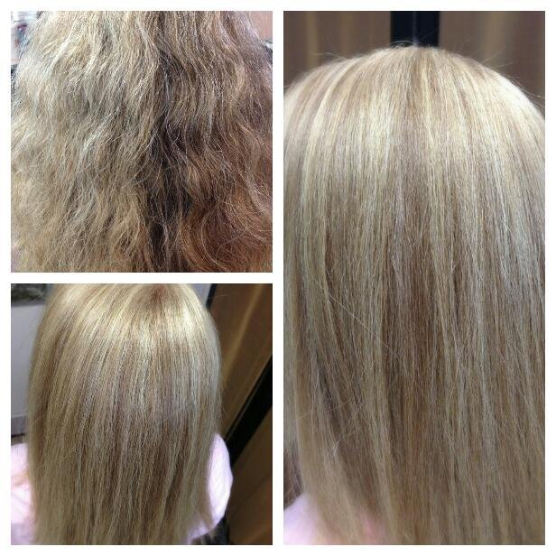 Color Techniques - Before and after of a highlight/lowlight by Tara