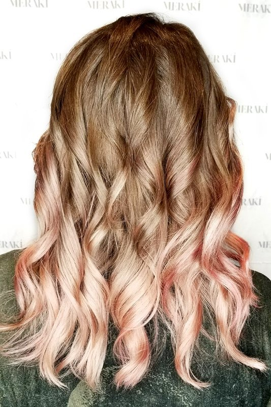 Rose Gold Ombre & Precision Styling
