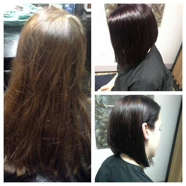 Color Techniques - All-over color and cut by Laura for Ashley