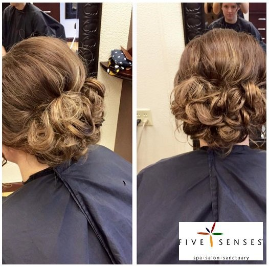 An intricate up-do