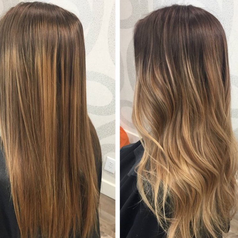 Studio Seven - Beautiful root shade + balayage by our level three stylist, Jessica