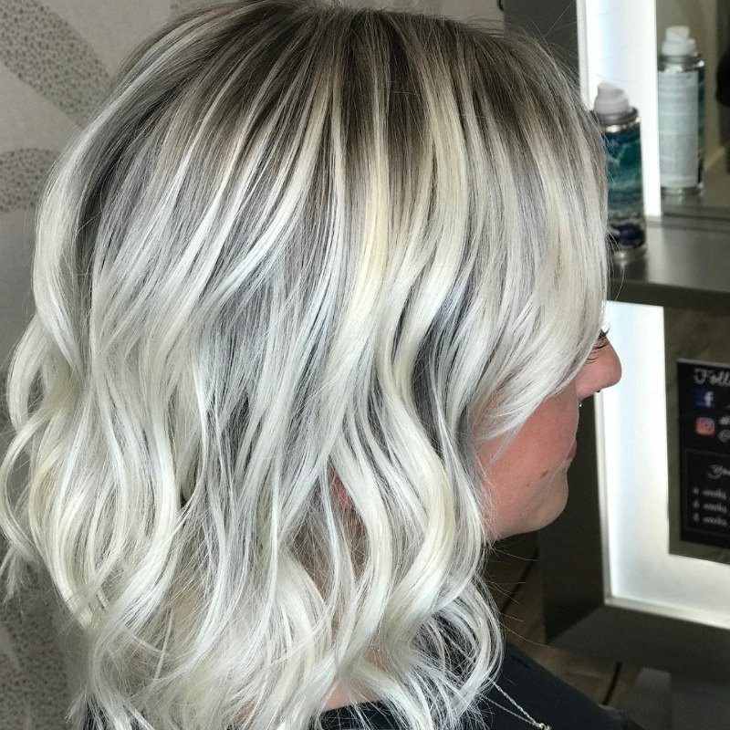 Studio Seven - Make your blonde stand out with a bomb root shade! Color by Logen
