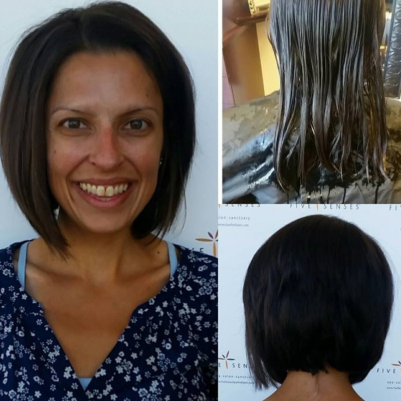 This lovely bob done by one of our stylists!