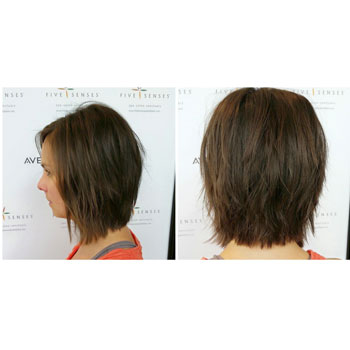 Short cut with layers by one of our master stylists!