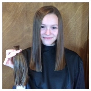 CUT - This client wanted to get something easier to maintain for college and to donate her hair. What a dramatic change!