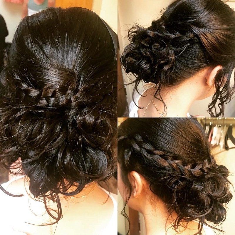 Braided bridal up-do
