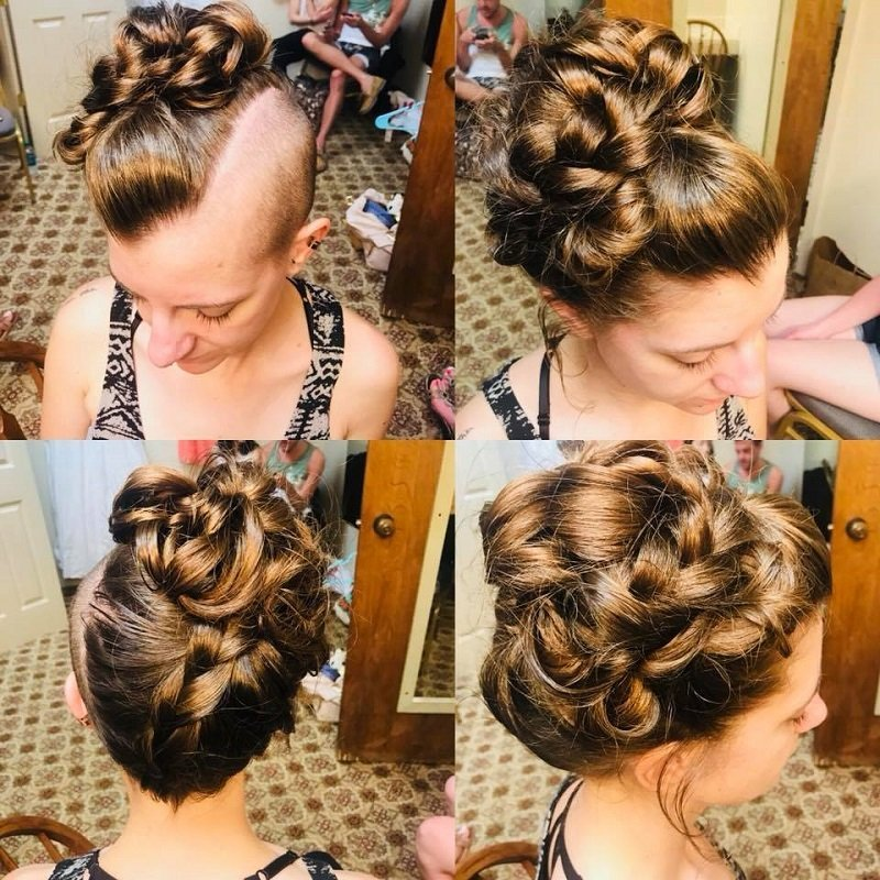 Unique bridal up-do!