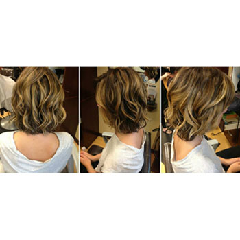 Highlights and cut with one of our stylists!