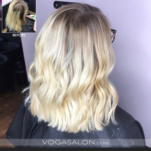 Balayage Highlights Before & After