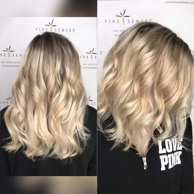 Blonde and curled