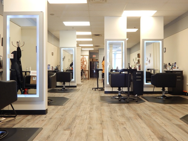 Interior of Headstrong Salon in Yardley, PA