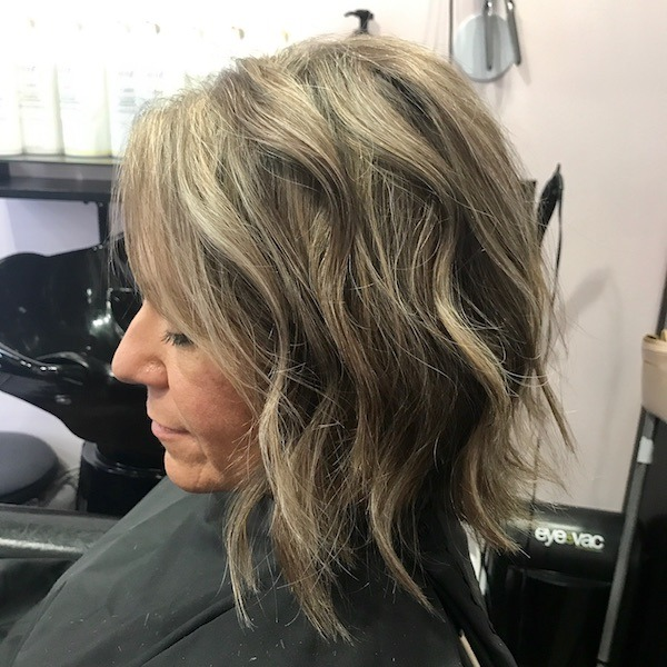 Bob Haircut & Highlights