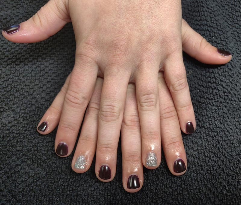 Shellac Manicure by Tiffany