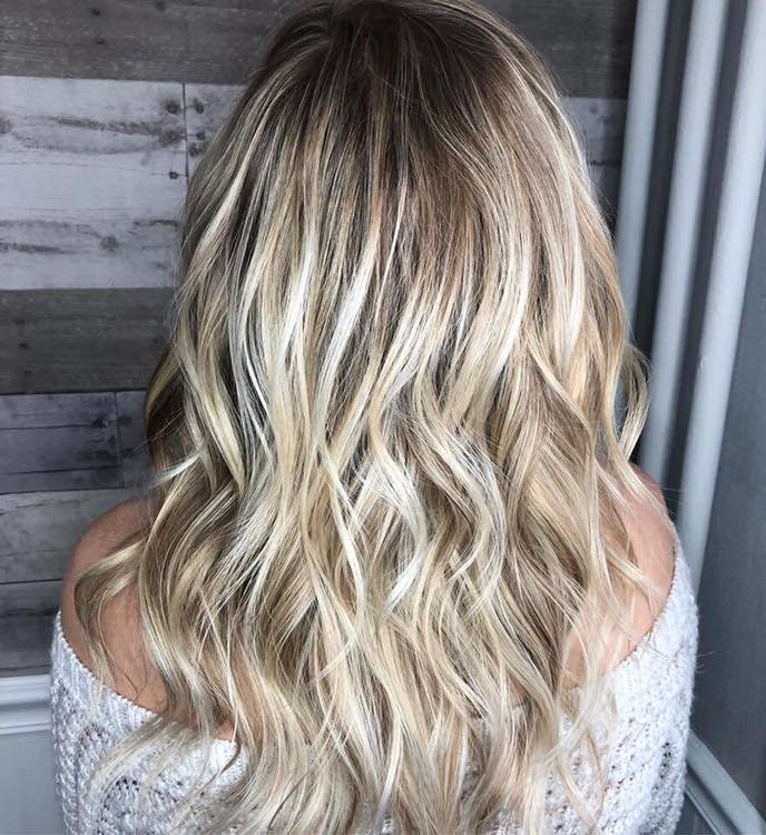 Rooted Icy Blonde
